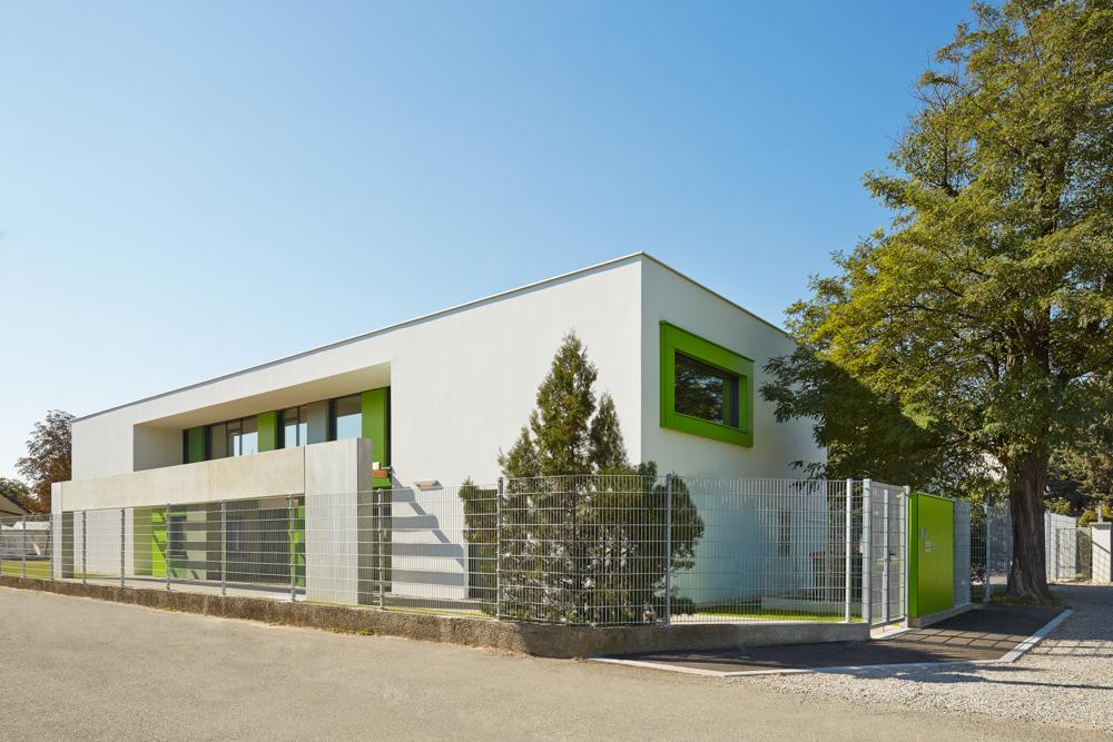 Außenansicht Kindergarten Mariahimmelfahrt kigago (Paschinger Architekten)