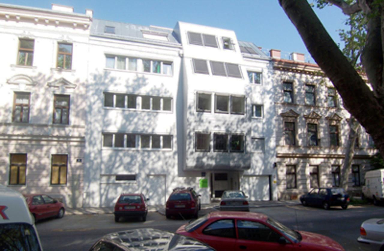 Außenansicht eines Wohnhauses in Wien (Paschinger Architekten)