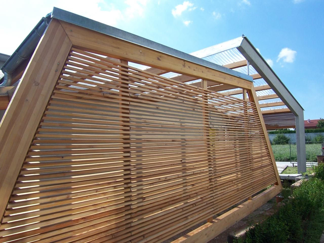 Holz-Konstruktion als Teil eines Einfamilienhauses der Paschinger Architekten