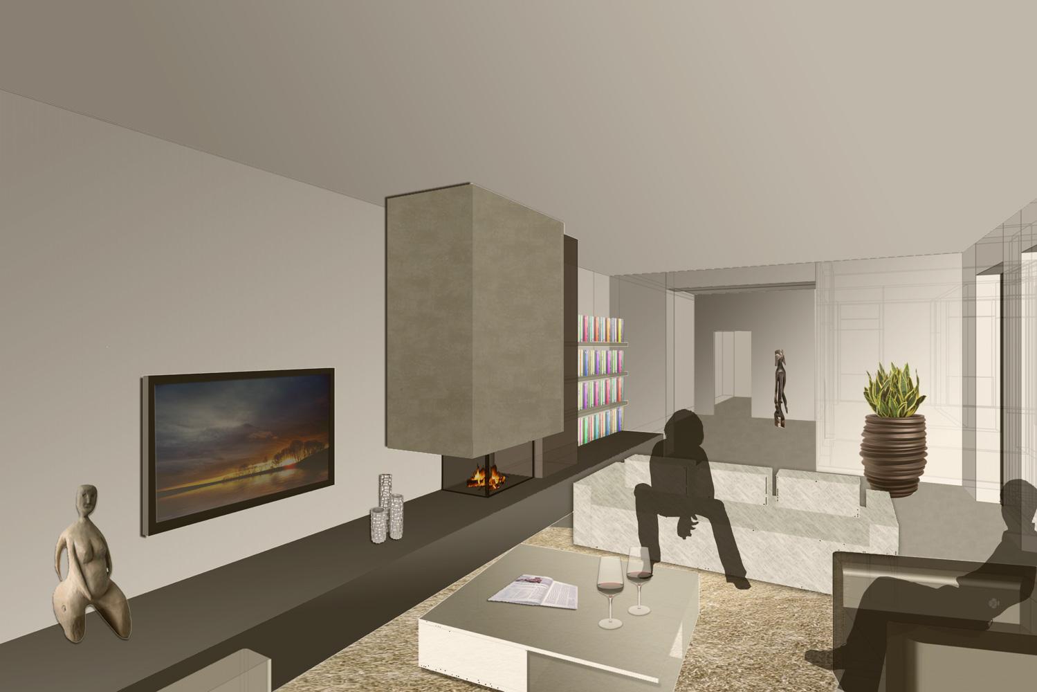 Planungsvorschau/Konzept des sanierungsbedürftigen Einfamilienhauses der Paschinger Architekten