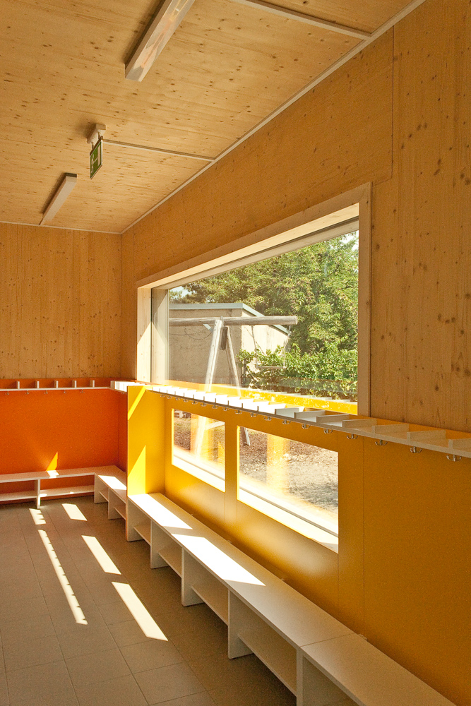 Kindergarten in Holzmassiv-Bauweise der ARGE kigago (Paschinger Architekten)