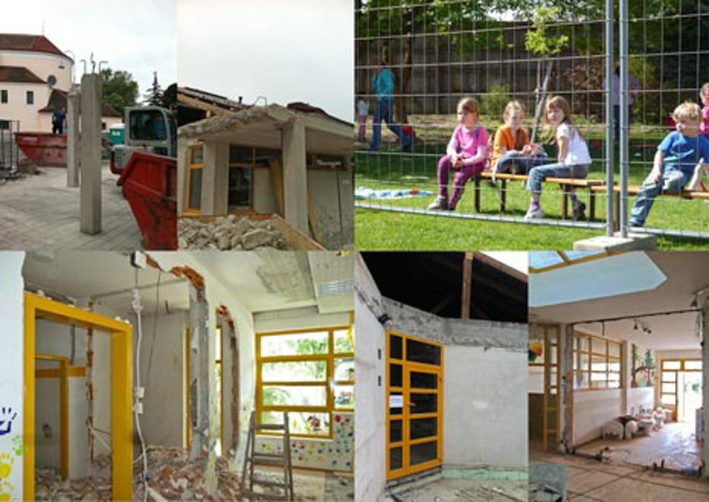 Baufortschritt Kindergarten Modulbauweise Massivholz / kigago (Paschinger Architekten)