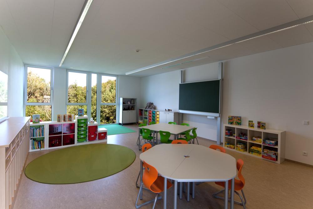 Gruppenraum Kindergarten Desselbrunn / kigago (Paschinger Architekten) Modulbauweise Massivholz