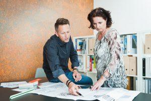 Die Paschinger Architekten in ihrem neuen Büro