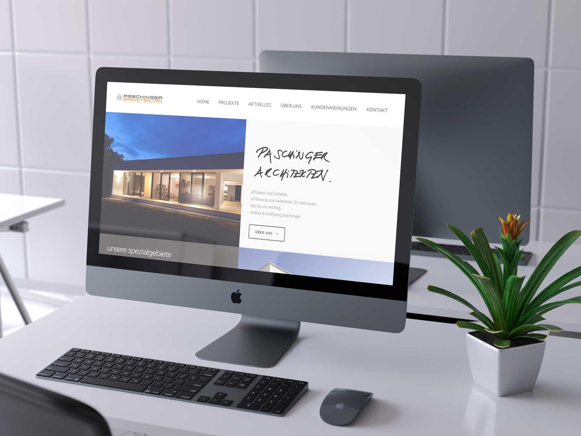 Gemeinsam mit Philip Baumgartner Foto.Grafik.Design haben die Paschinger Architekten eine neue Webseite erschaffen