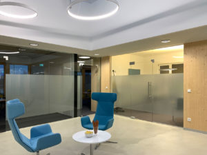 Das Bürogebäude KPS in Guntramsdorf ist fertig für den Einzug - Innenansicht