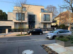 Außenansicht des fertiggestellten Wohnhauses